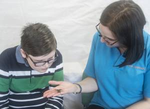 young people experience animal handling